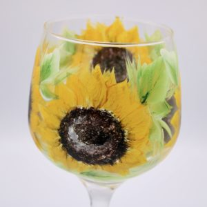 Sunflower gin glass